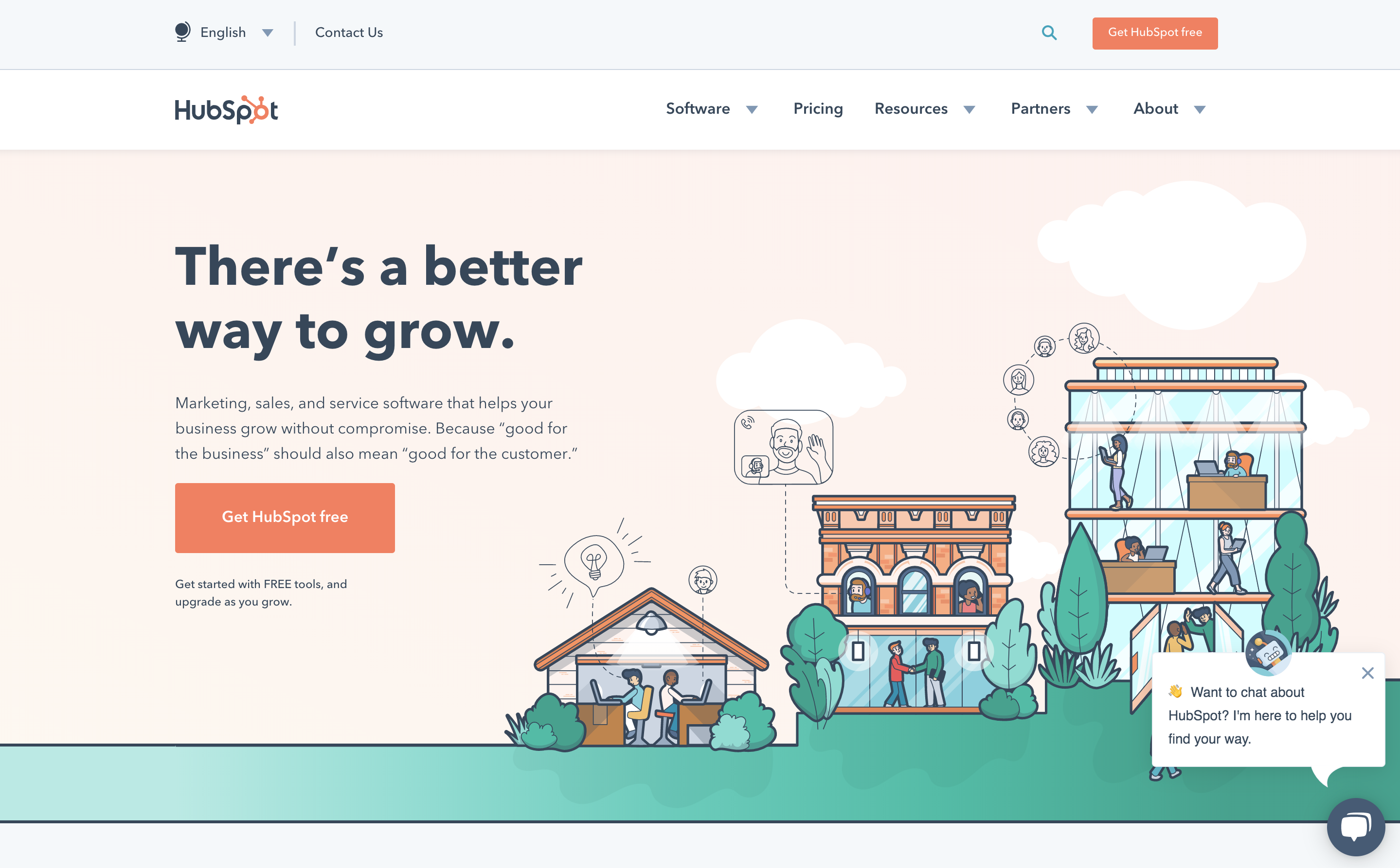 Hubspot Homepage tools for coworking space operators