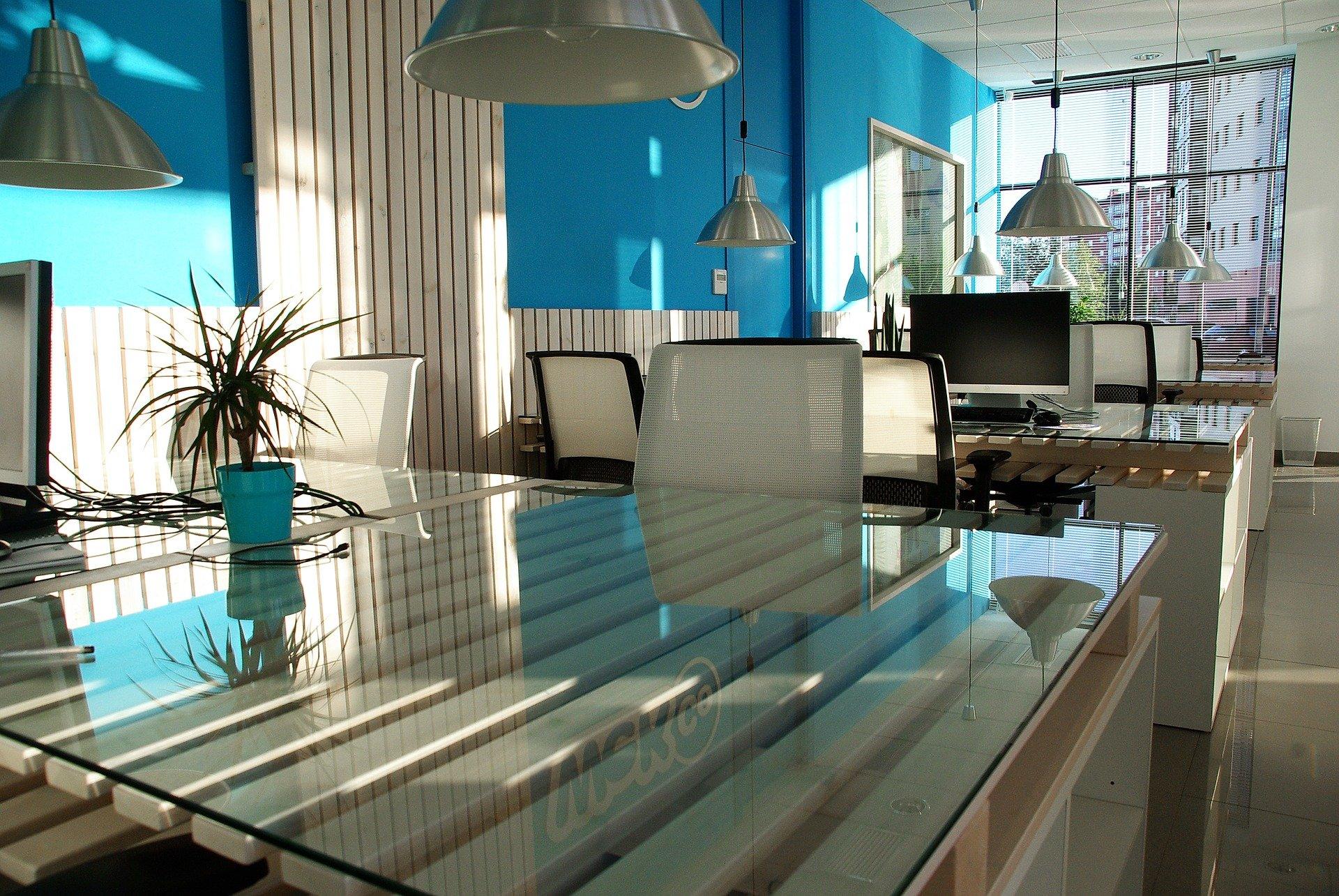 Blue Office Design