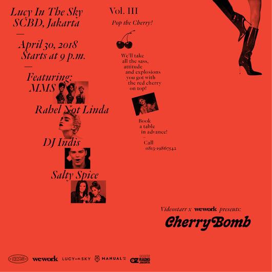 CherryBomb Vol 3-Flyer Jakarta
