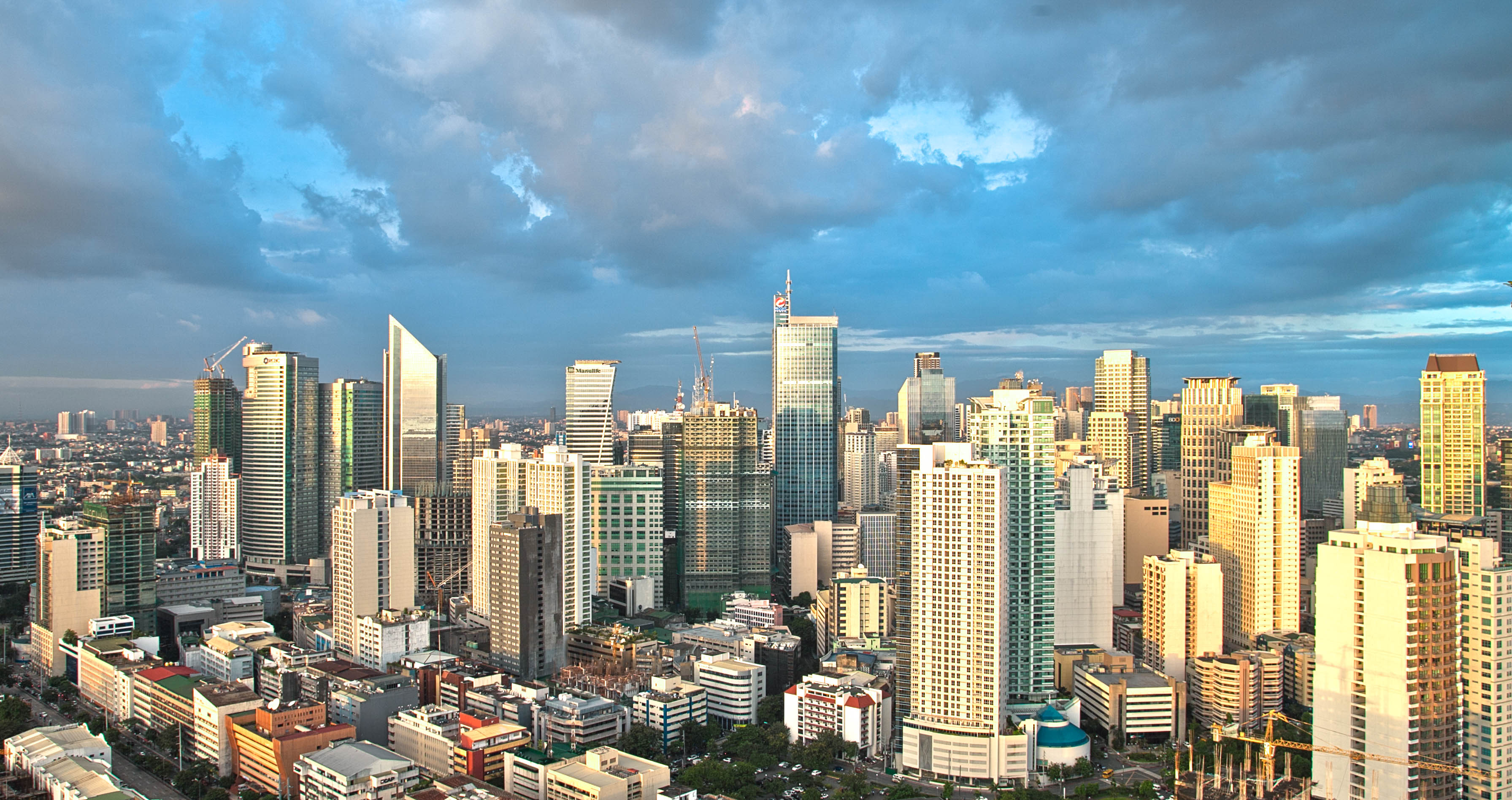 Manila cityscape flyspaces