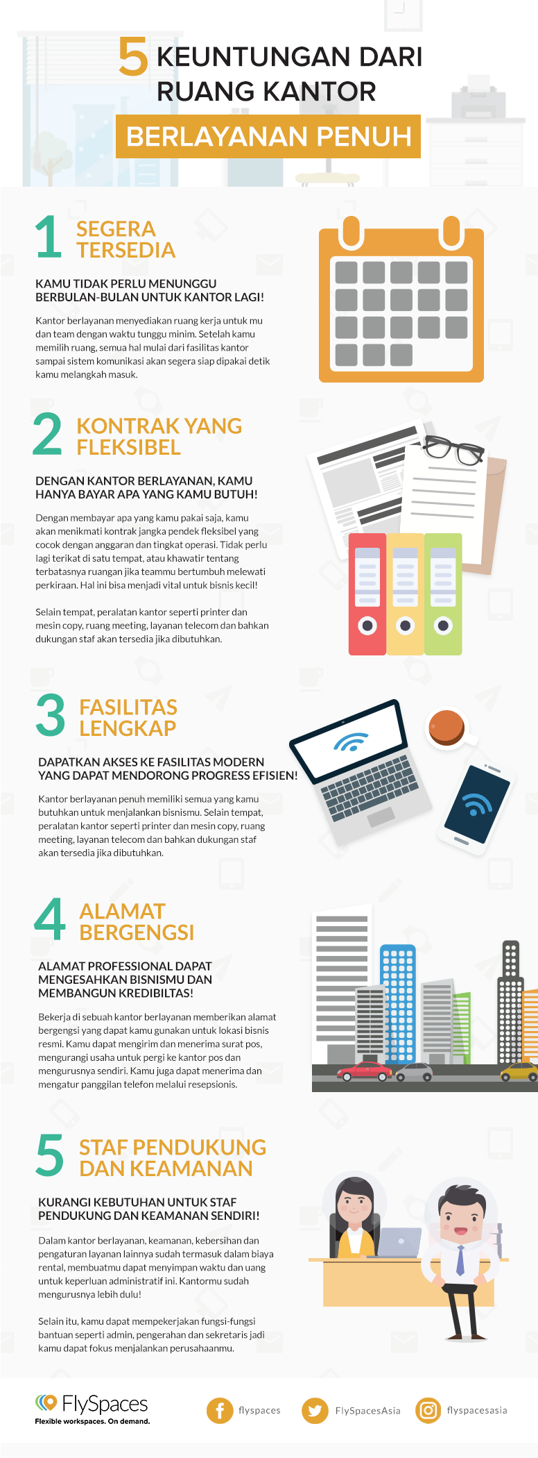 bahasa serviced office benefits